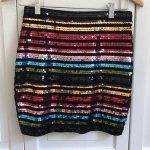 Express High Waisted Sequin Mini Skirt size XS